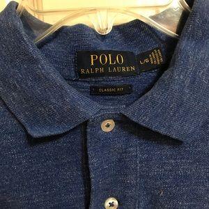 Ralph Lauren Polo Blue Heather Golf Shirt Classic